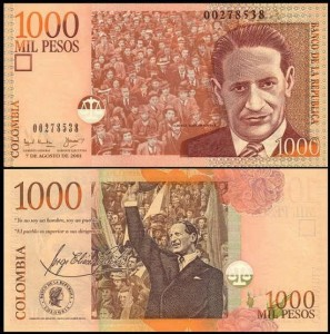KOLUMBIA, 1000 PESOS 7.8.2001 Pick 450a