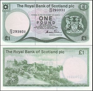 SZKOCJA, THE ROYAL BANK OF SCOTLAND, 1 POUND 1985, Pick 341b
