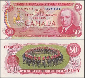 KANADA, 50 DOLLARS 1975, Pick 90b