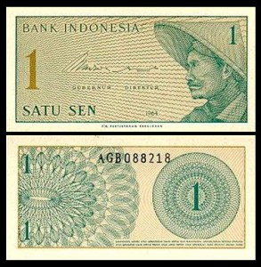 INDONEZJA, 1 SEN 1964, Pick 90a