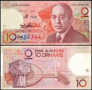 MAROKO, 10 DIRHAMS 1987 Pick 60a