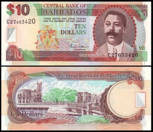 BARBADOS, 10 DOLLARS (2000), Pick 62