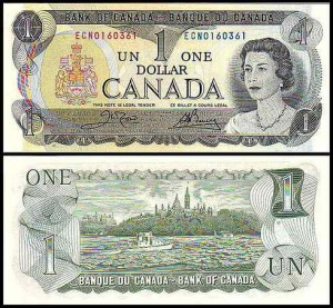 KANADA, 1 DOLLAR 1973, Pick 85c