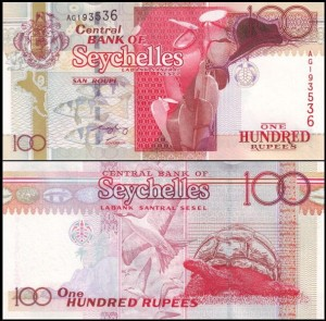 SESZELE, 100 RUPEES (2001), sygn. F. Ch. Leng, Pick 40