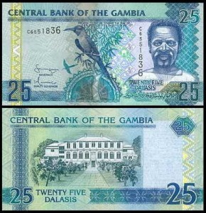 GAMBIA, 25 DALLASIS (2001-2005) Pick 22c