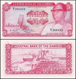 GAMBIA	5 DALASIS (1972-1986) seria Y, Replacement?, Pick 5d