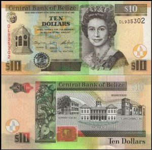 BELIZE, 10 DOLLARS 2016 Pick 68