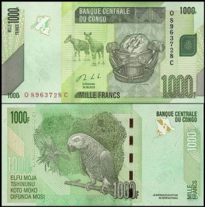 KONGO - REPUBLIKA, 1000 FRANCS 2013 Pick 101b