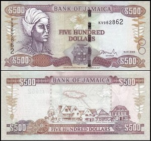JAMAJKA, 500 DOLLARS 2005 Pick 85c
