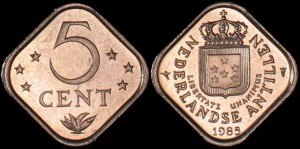 Antyle, 5 Cents 1985, KM 13