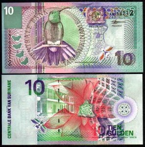 SURINAM, 10 GULDEN 2000, Pick 147