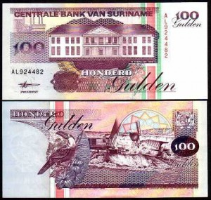 SURINAM, 100 GULDEN 1998, Pick 139