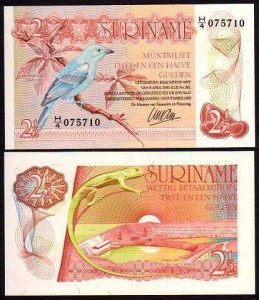 SURINAM, 2 1/2 GULDEN 1985, Pick 119