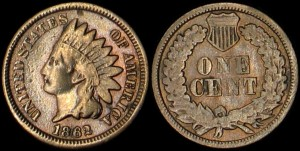 USA, 1 Cent 1862, Stan III-